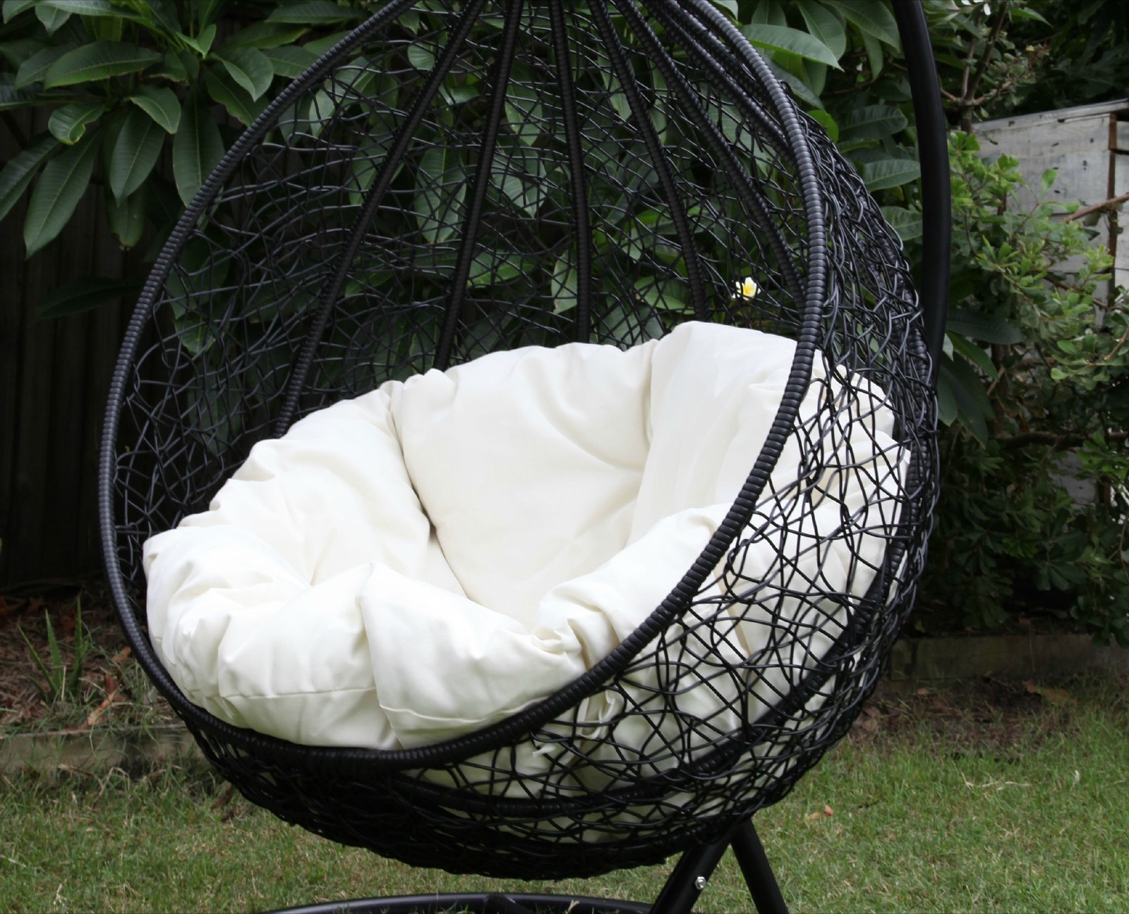 Chair swing chair outdoor patio - Where They Are Placed The Swinging Egg Outdoor Wicker Chairs