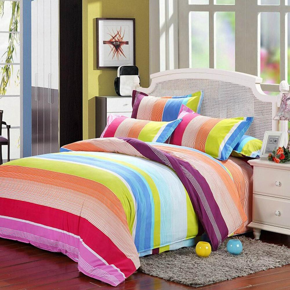 Rainbow bedding for kids - inspire the mood of your room