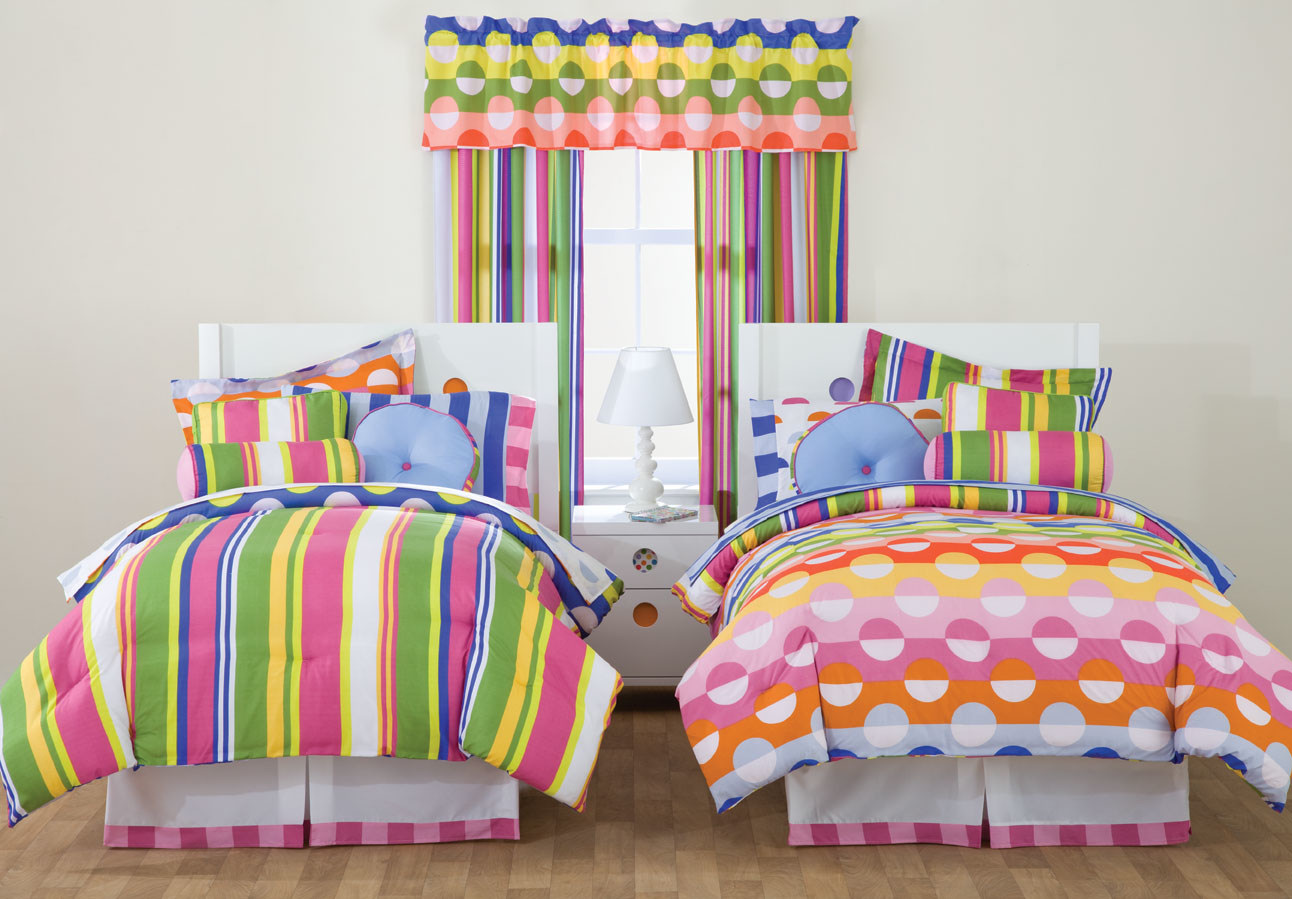 Rainbow polka dot bedding 10 ways to provide a stunning for Polka dot bedroom designs