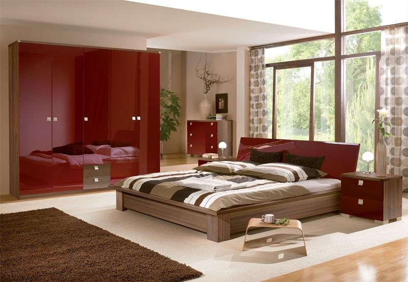 Red bedroom furniture ideas