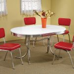 Red retro kitchen table chairs – When Red Become A Decoration Challenge