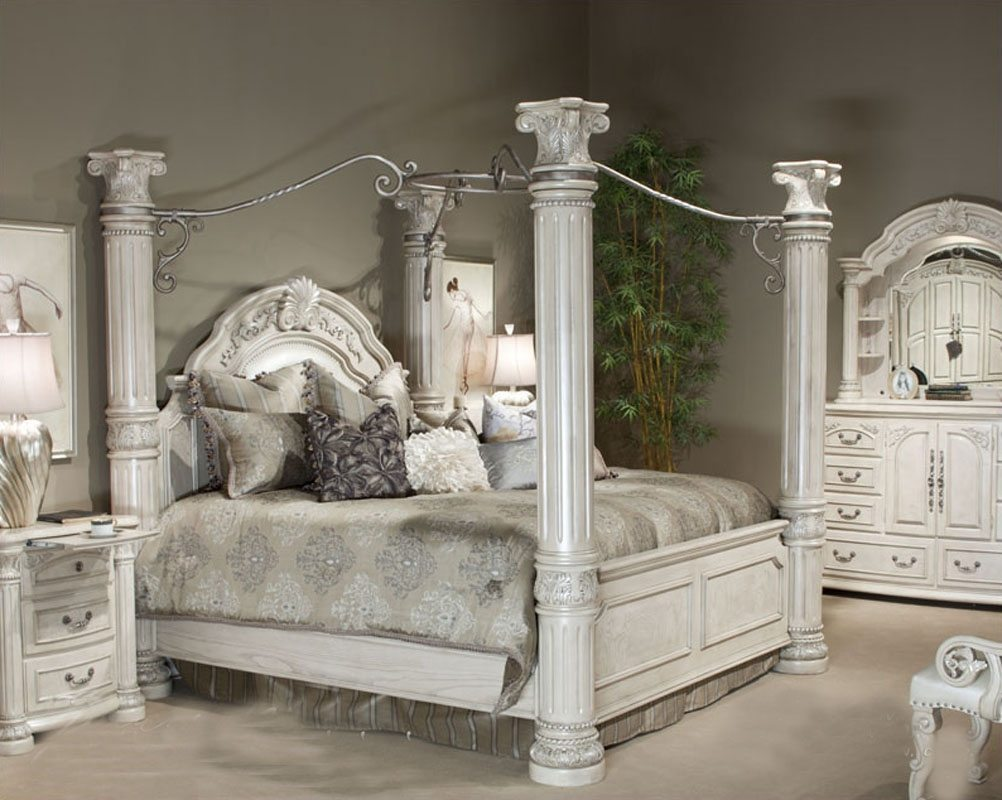 silver bedroom furniture sets reflect a clean and