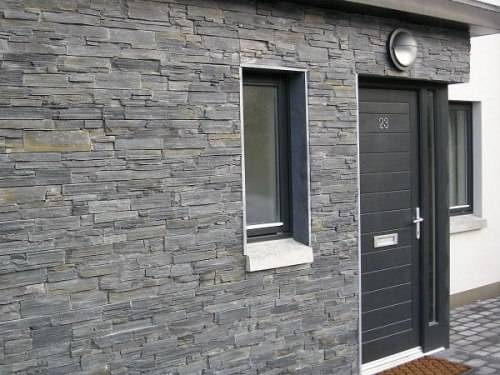 Slate tiles for outside walls – ideal for patios
