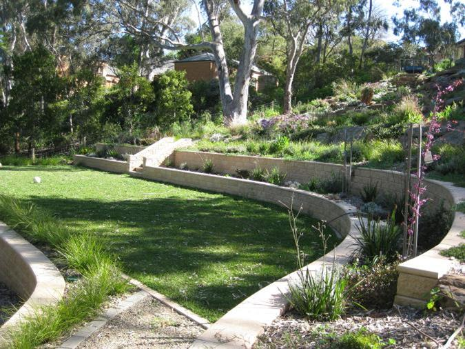sloping garden design plans new ideas interior
