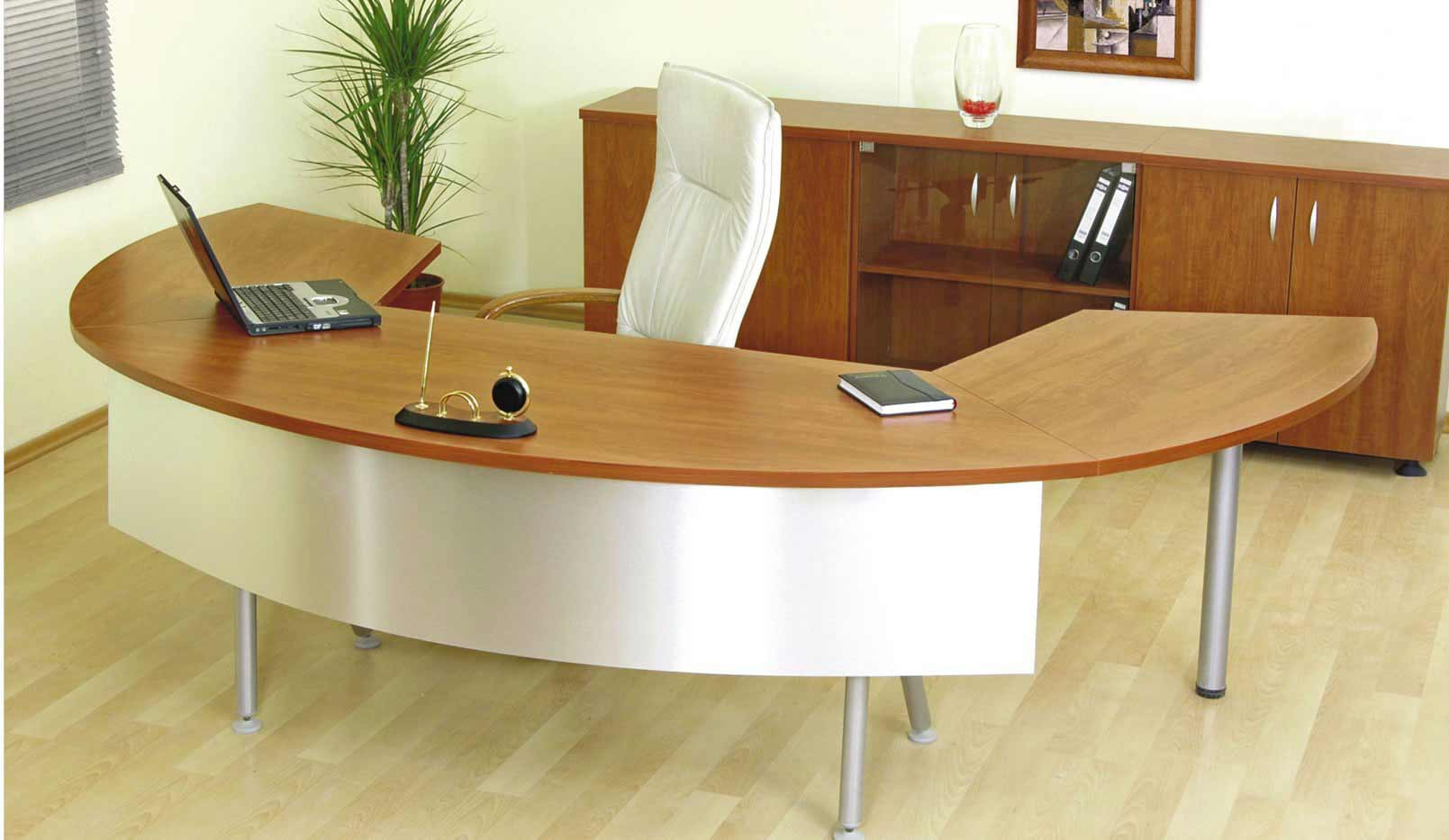 the super sleek berkley desk slides out to reveal a nice little