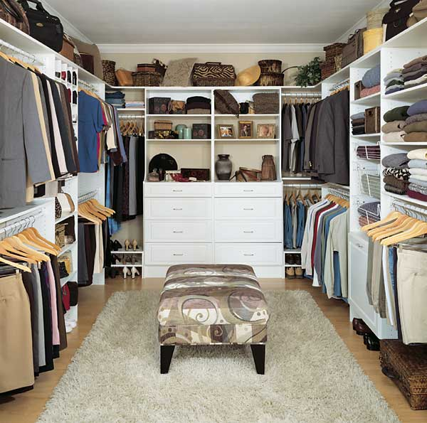 Walk in closet designs plans – remove the old shove things in attitude with a classic style of space!