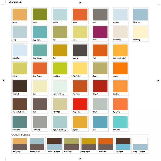 Wall colour shade cards – 20 ways to bright dark space in your rooms