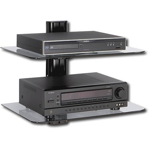 Wall mounted shelves for dvd player add balance, decoration and symmetry to your room