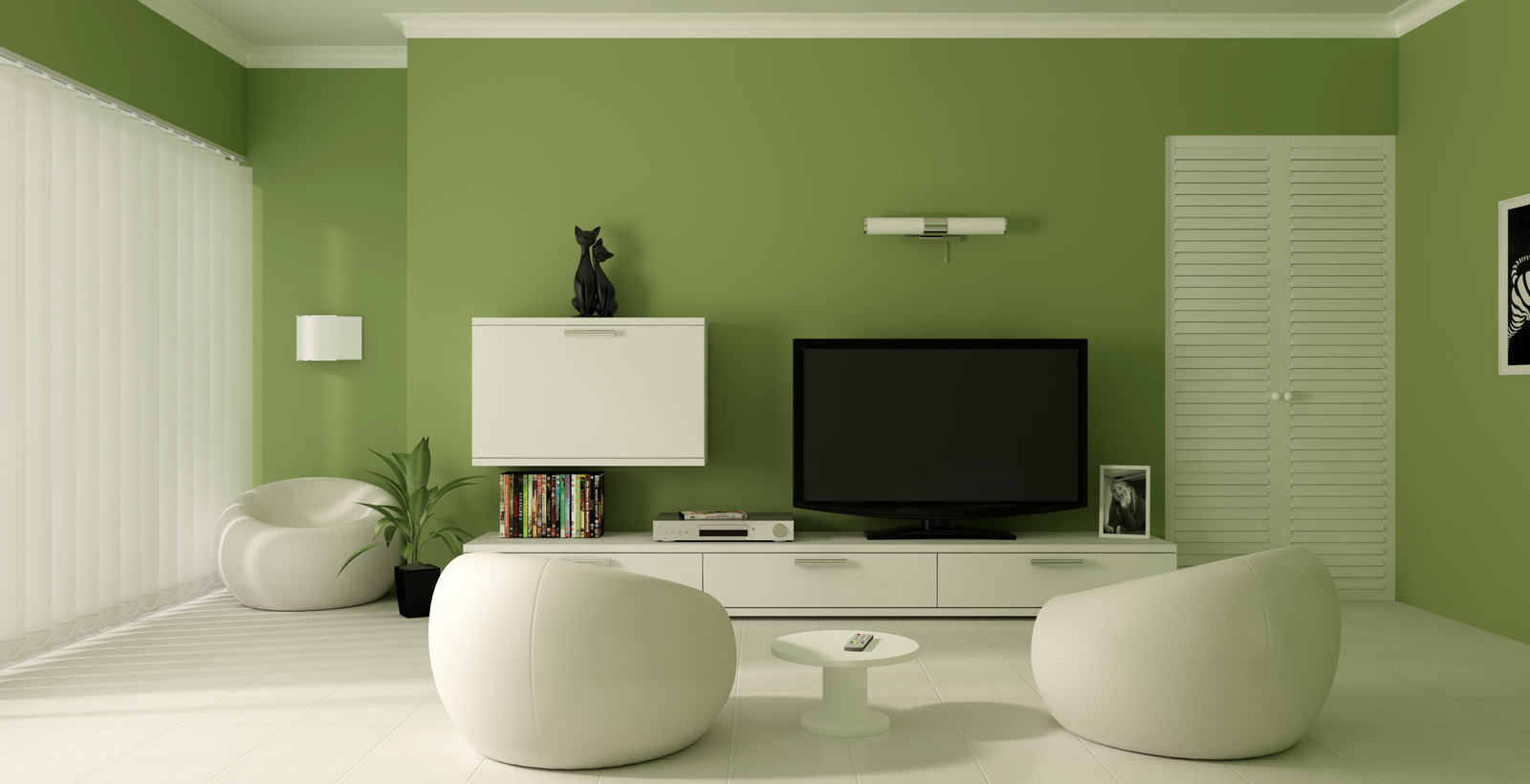 Experiment with wall paint colors green to make your Home feel Alive