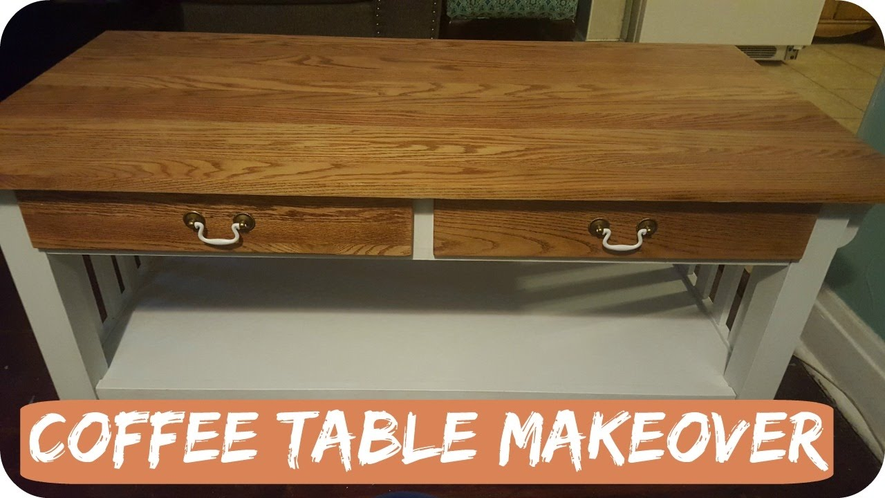 Wood coffee table makeover ideal for a conventional for Coffee table makeover ideas