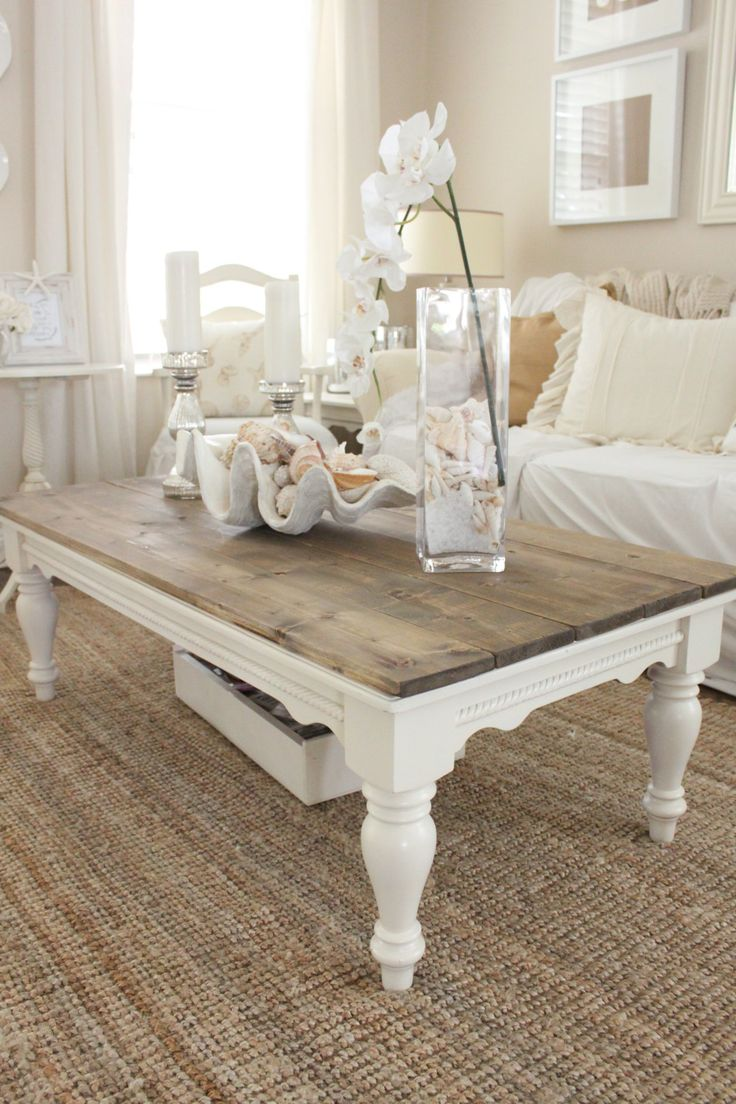 Wood coffee table makeover – ideal for a conventional setting of living room