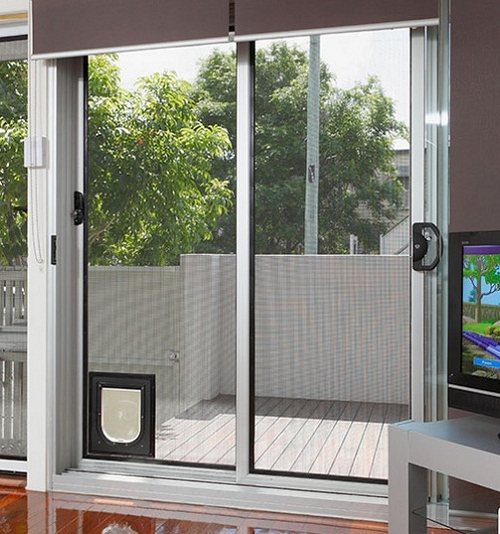 25 benefits of dog doors for sliding glass doors With small dog door sliding glass