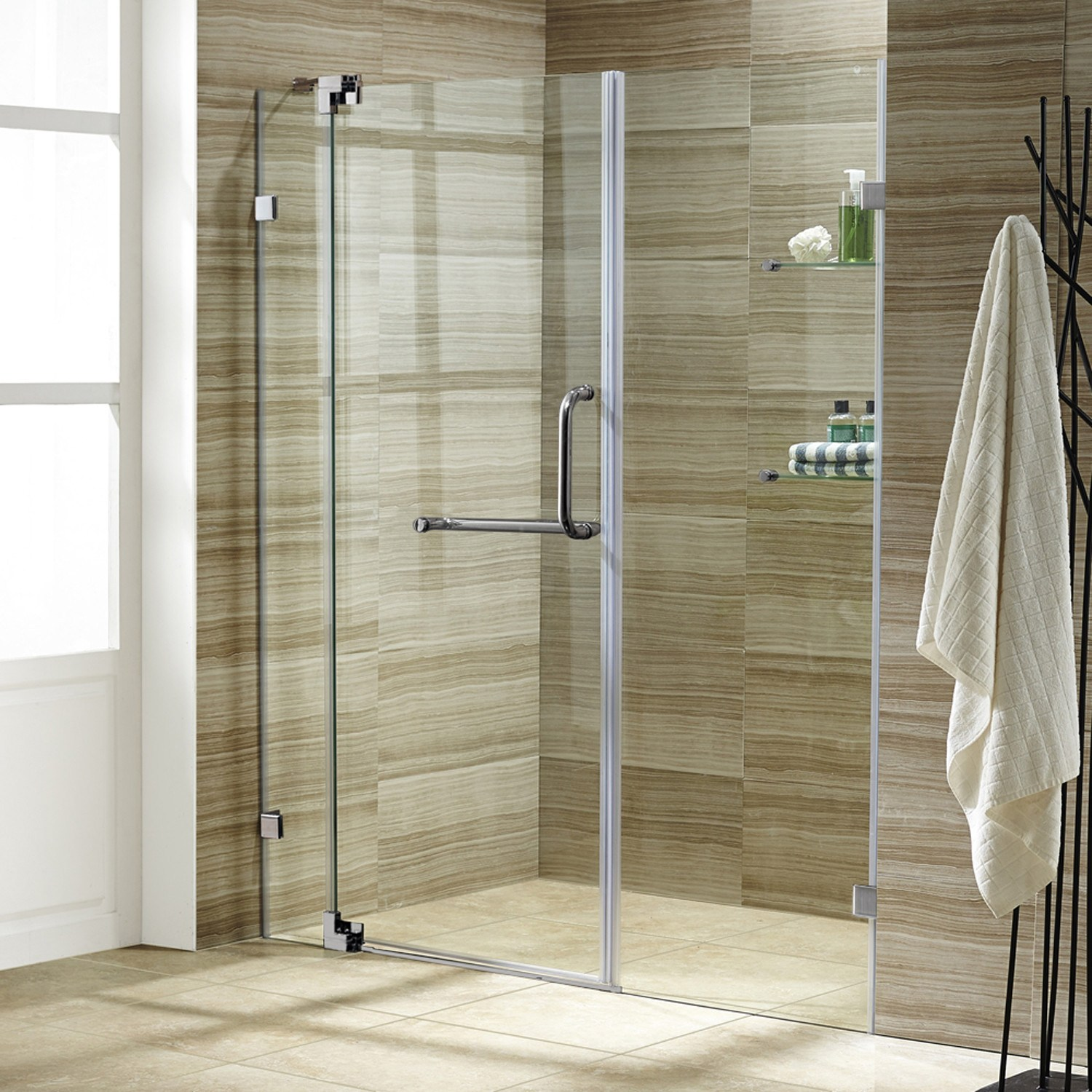 Plastic bathroom doors - Accordion Shower Doors Can Be Custom Built According To Specifications To Fit Any Bathroom Door Accordion Shower Doors Come In Various Designs Such As