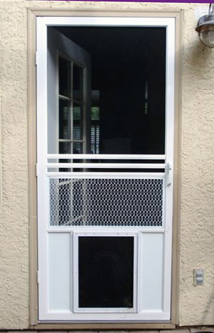 25 factors to consider before installing dog door for for Entry door with built in screen