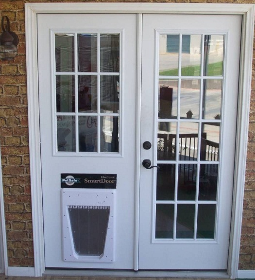Top 20 custom and classic french doors with dog door - Interior door with pet door installed ...
