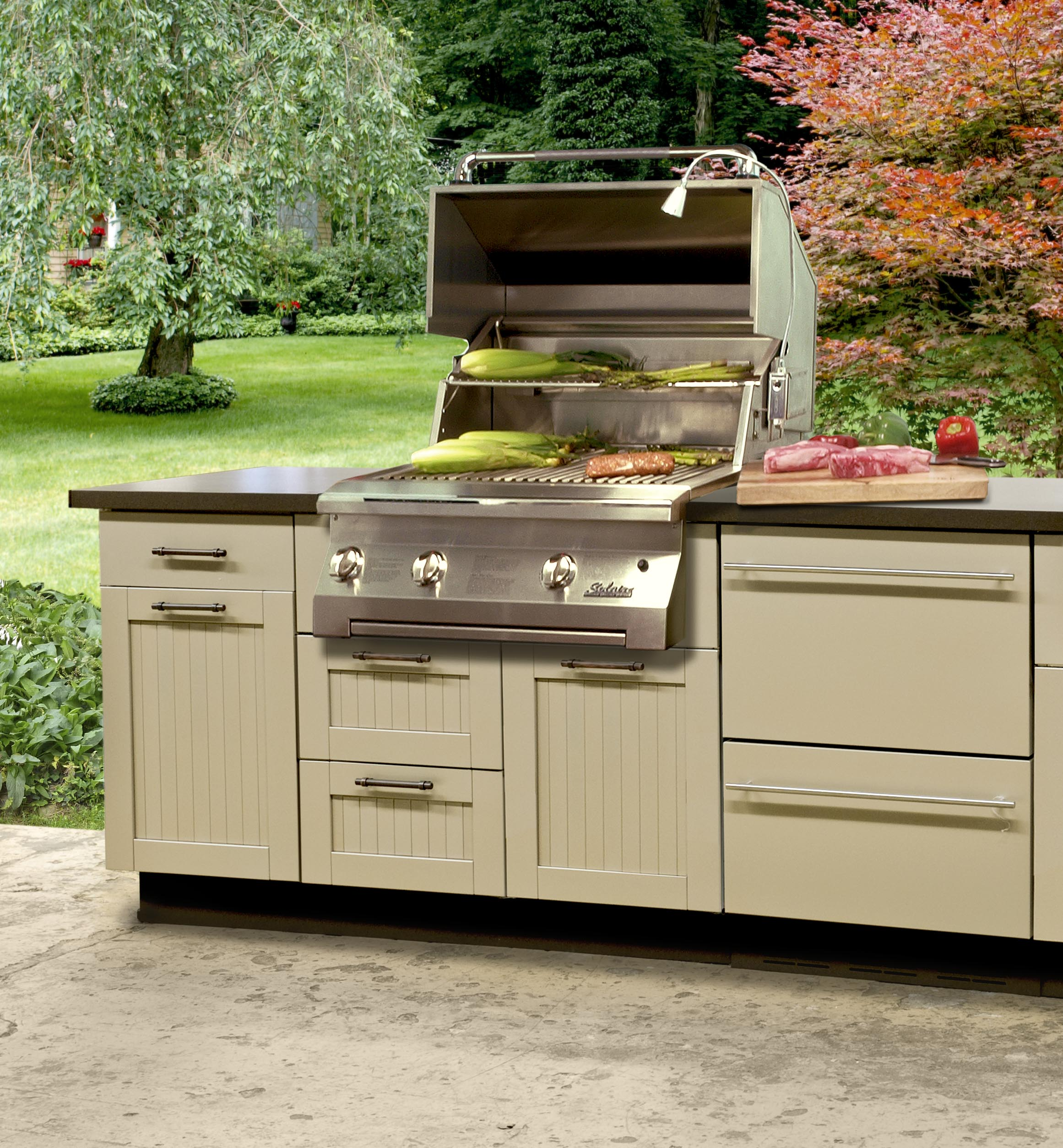 Outdoor kitchen lowes best suited to offer you top notch for Kitchen outdoor picture