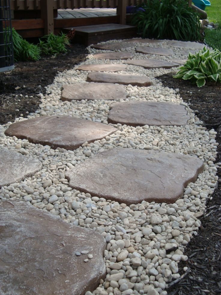 the dry stream river rock garden edging ideas interior
