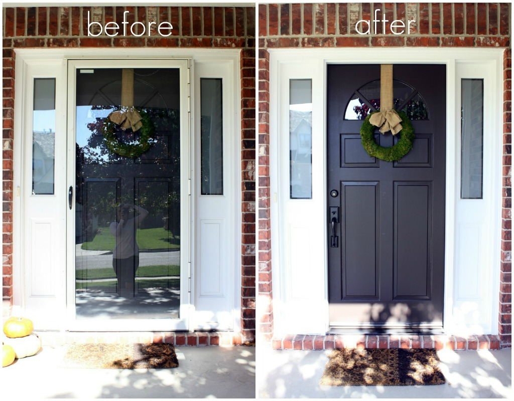 20 storm doors hardware storm doors with pet door for Front door with storm door