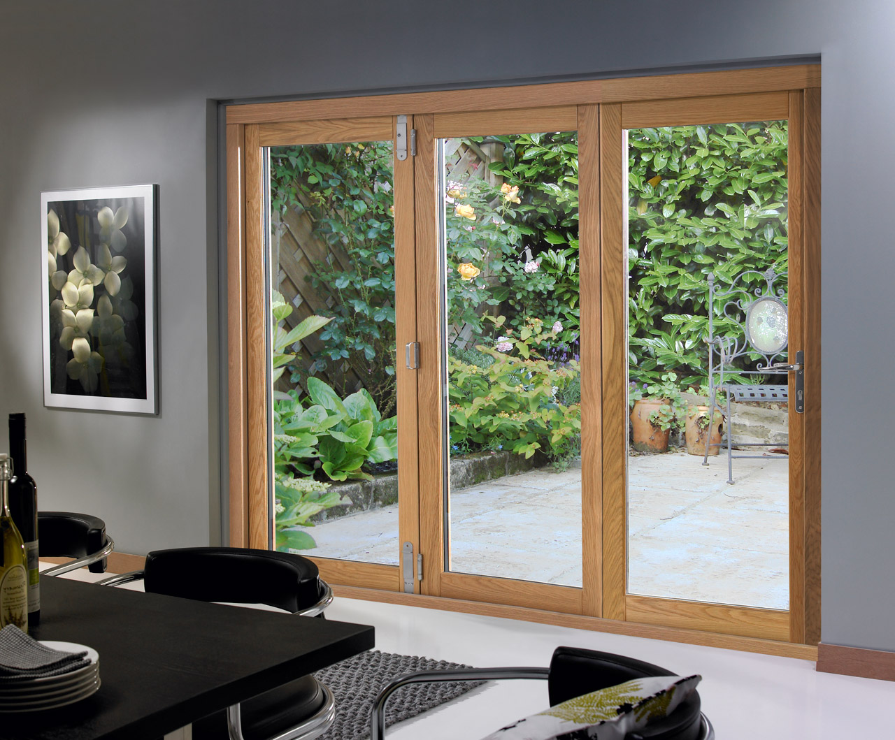 French doors interior bifold give your home the best for Interior exterior doors