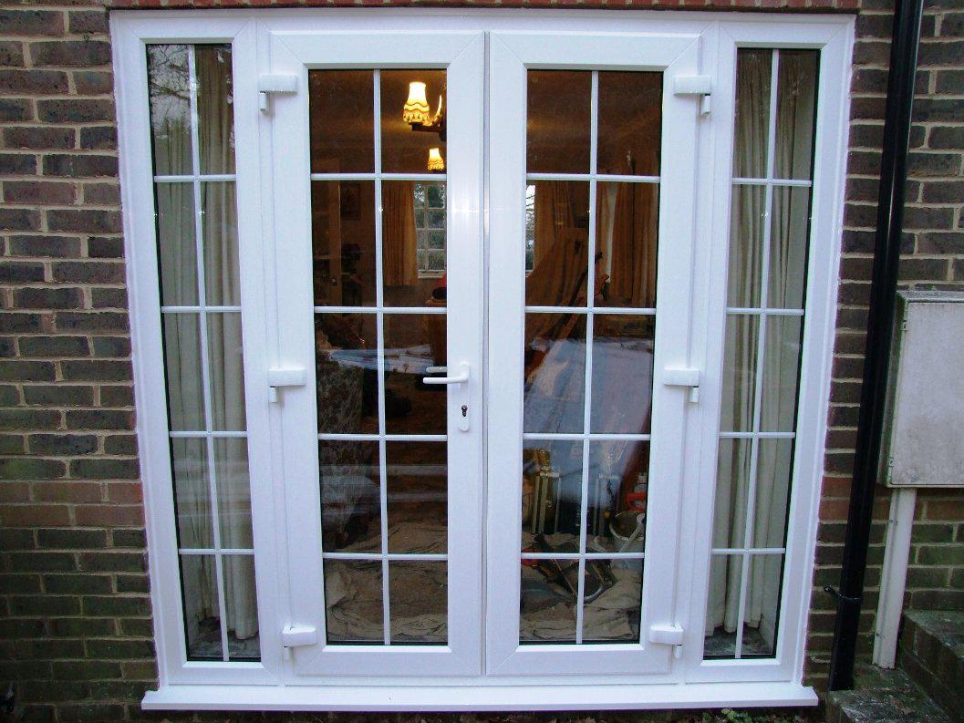 Beautiful french doors interior menards for your home for Small exterior french doors