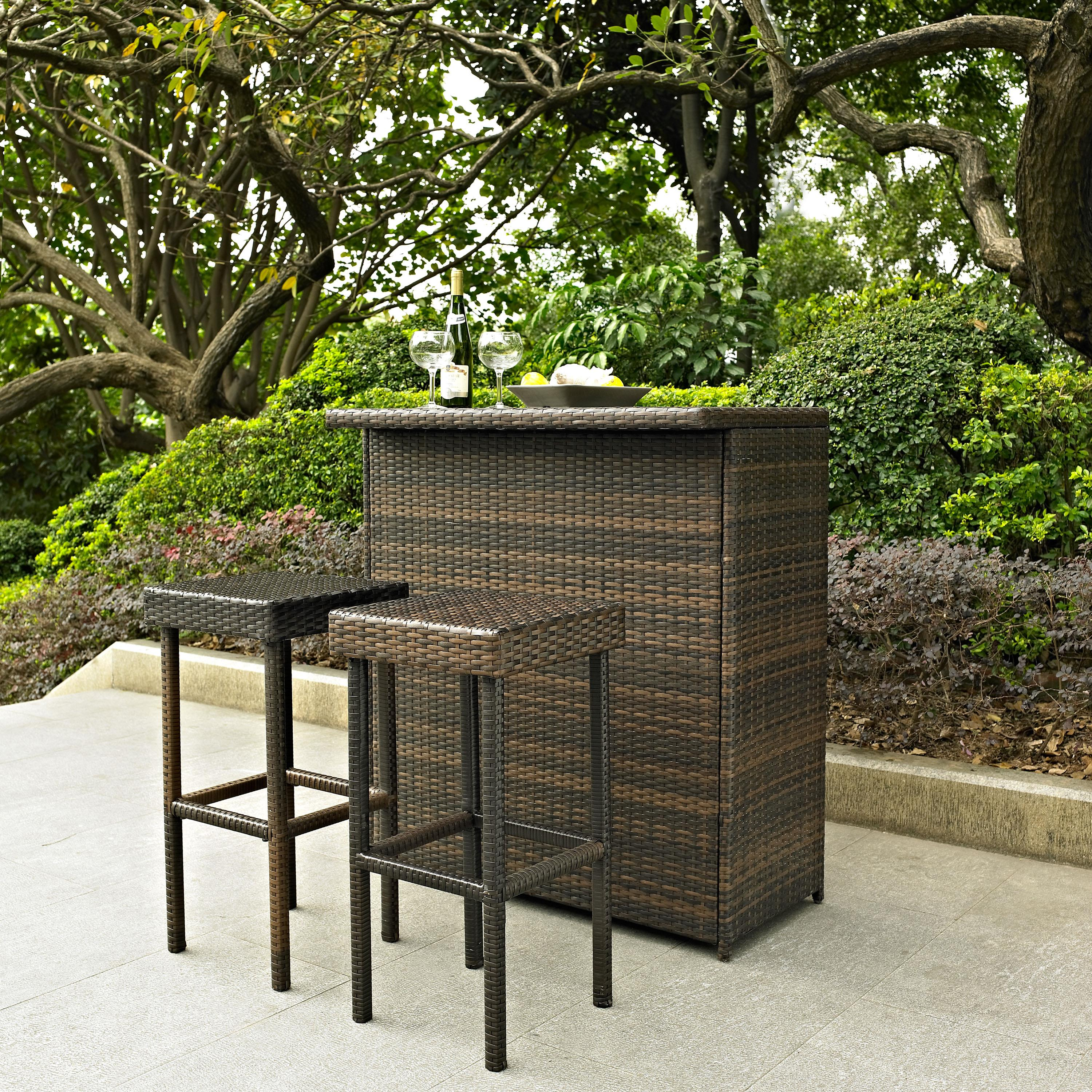 Bar Harbor Outdoor Wicker Accent Table photo - 4