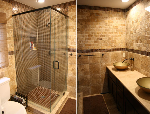 Bathroom Stone Wall Design photo - 5