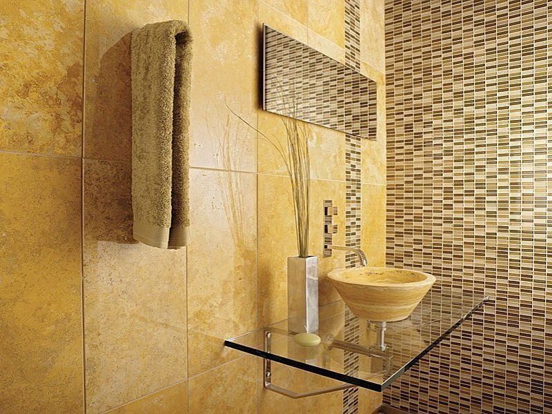 Bathroom Stone Wall Design photo - 6