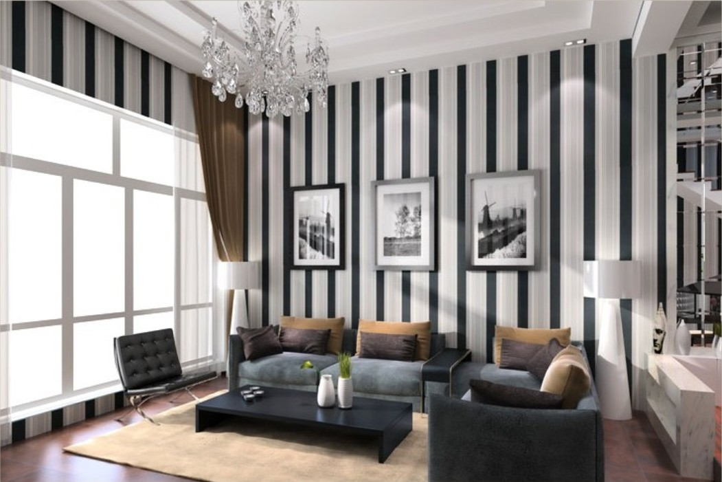 Black And White Wallpaper Ideas For Living Room Nakicphotography