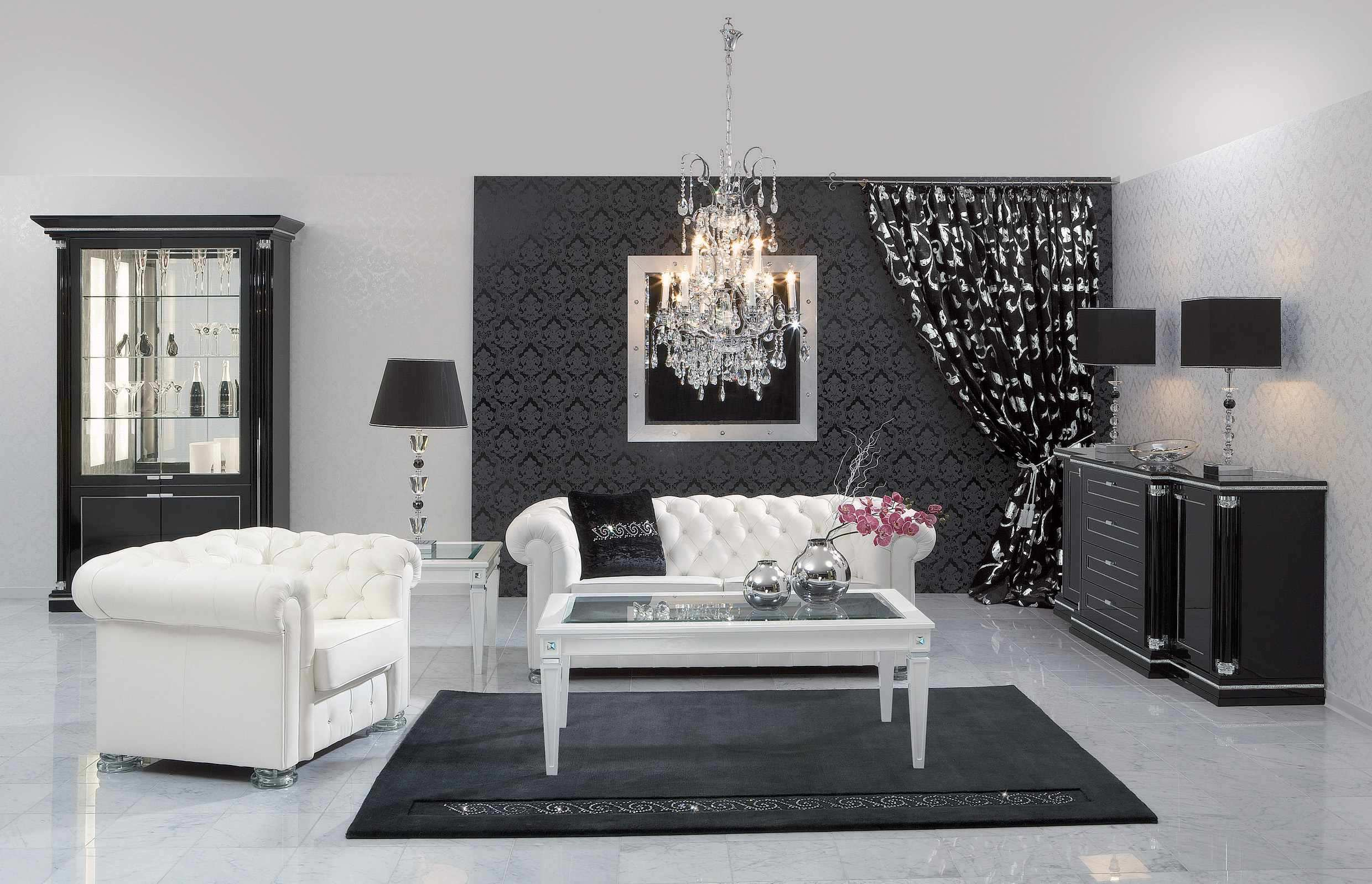 Black and White Living Room photo - 3