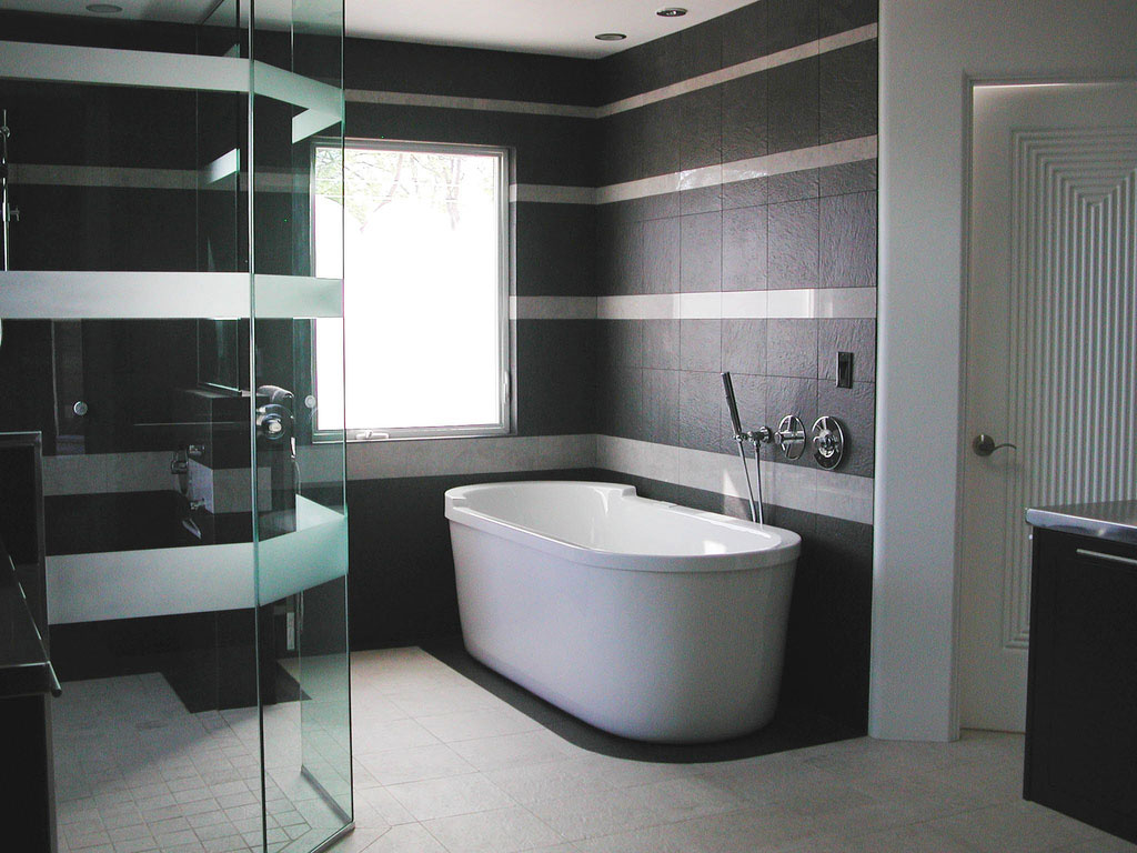 Black and White Wallpaper for Bathrooms photo - 5