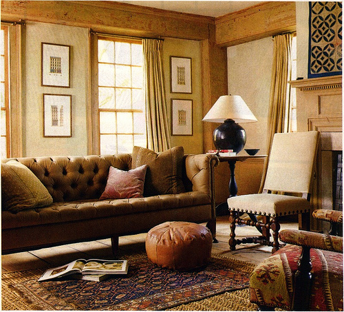 Countrystyle Living Room Design photo - 1