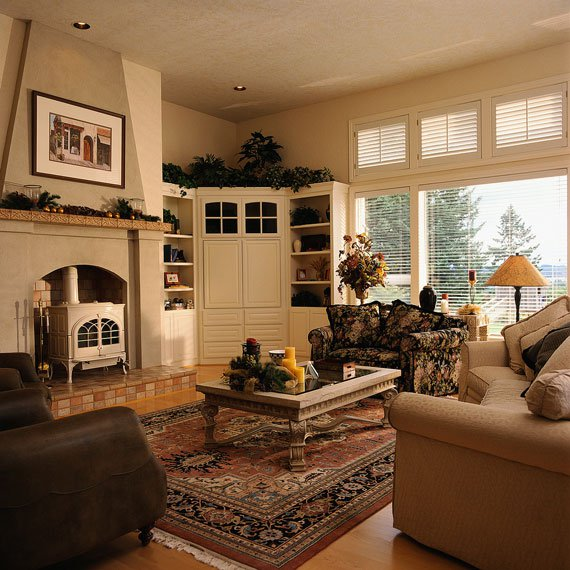 Countrystyle Living Room Design photo - 2