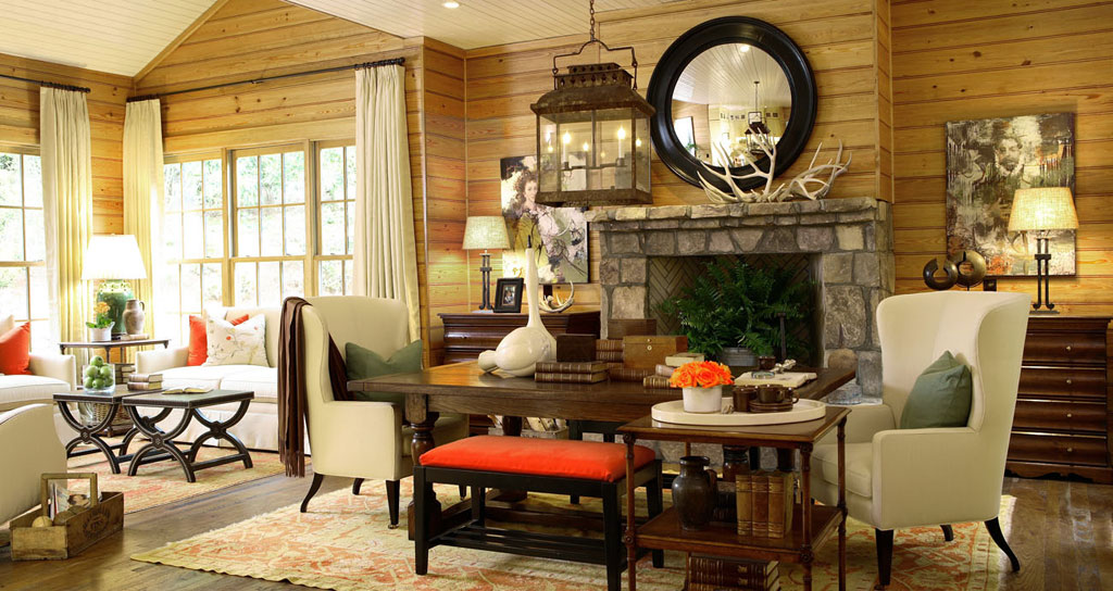 Countrystyle Living Room Design photo - 4