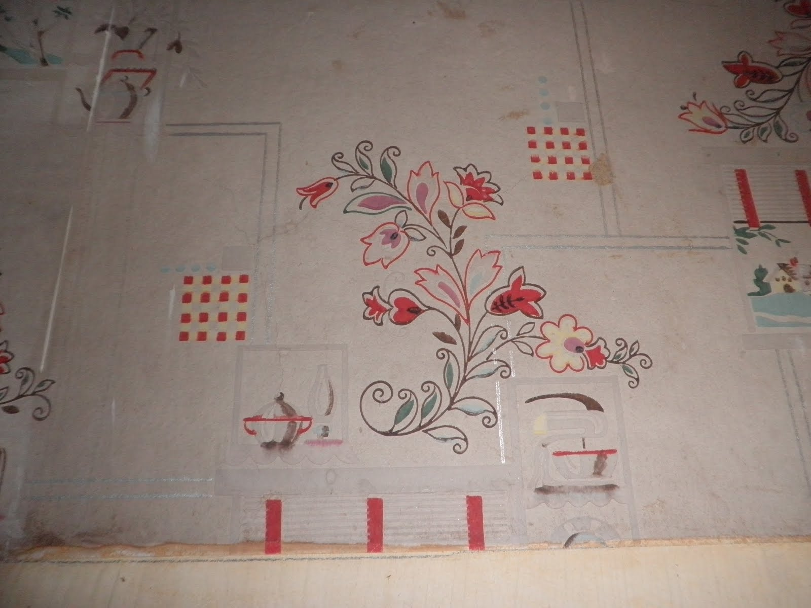 Fruity Wallpaper on an Old-Fashioned Kitchen photo - 3