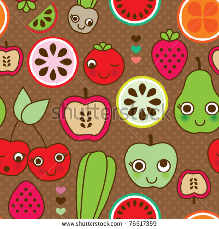 Fruity Wallpaper on an Old-Fashioned Kitchen photo - 4