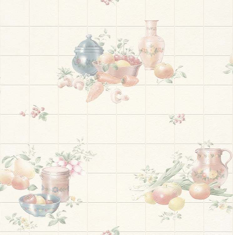Fruity Wallpaper on an Old-Fashioned Kitchen photo - 6