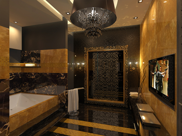 Gold Bathroom Idea photo - 3