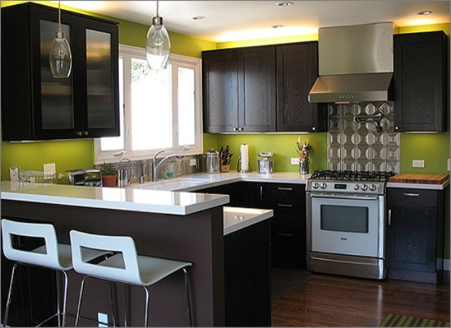Green Modern Kitchen photo - 1
