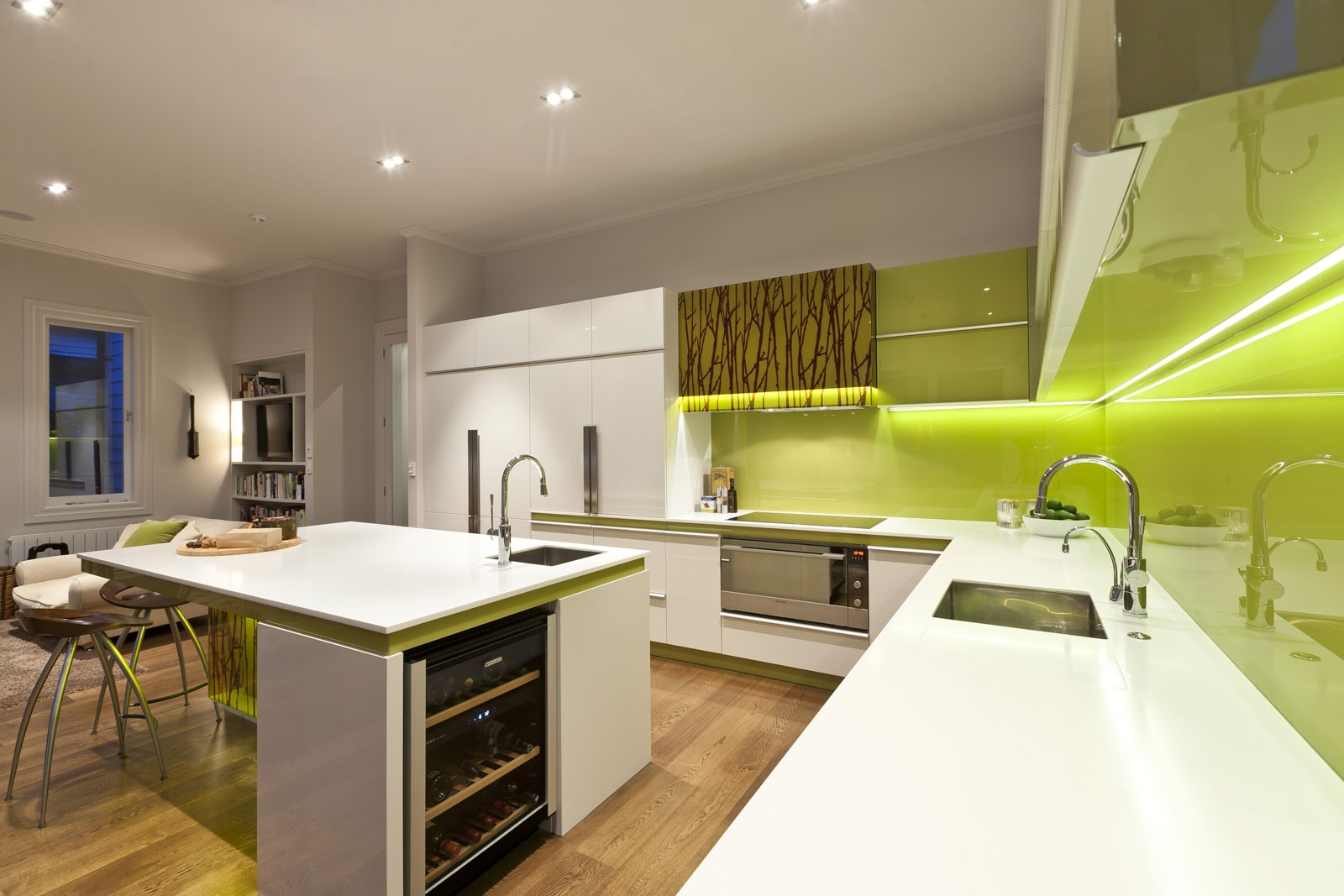 Green Modern Kitchen photo - 2