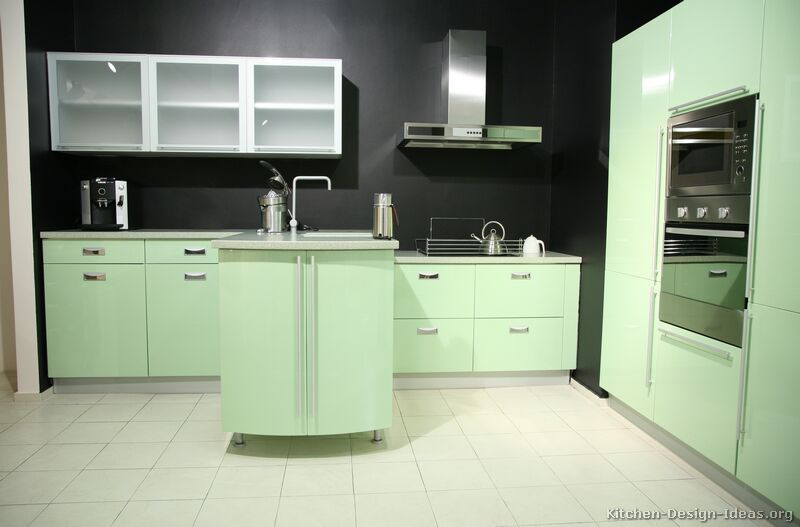 Green Modern Kitchen photo - 3