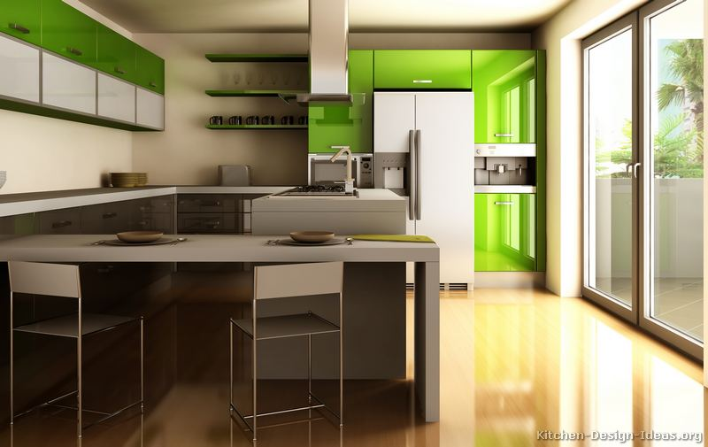 Green Modern Kitchen photo - 4