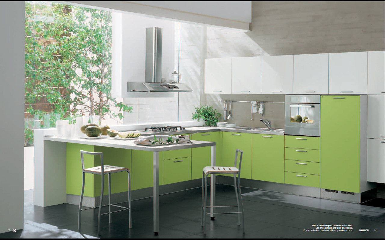 Green Modern Kitchen photo - 5