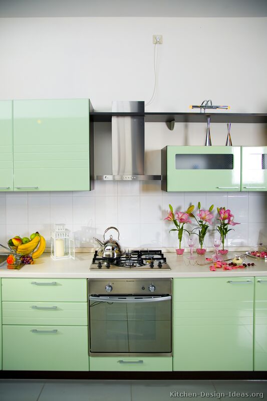Green Modern Kitchen photo - 6
