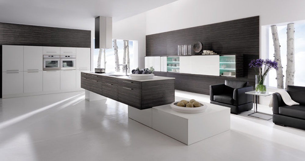Modern Black and White Kitchen photo - 2