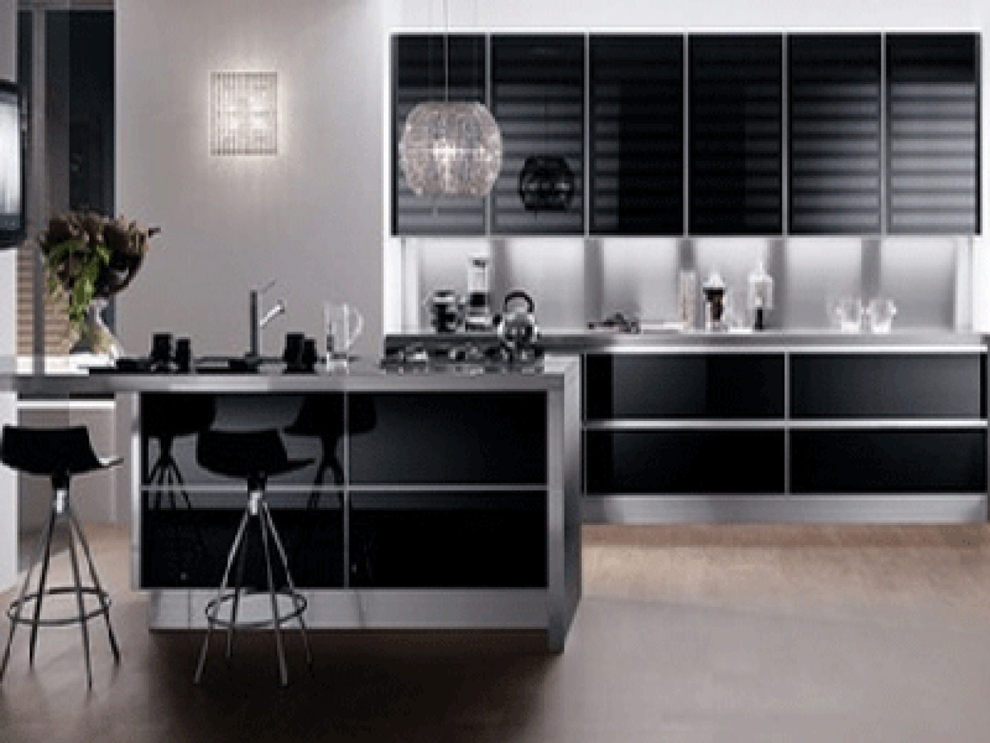 Modern Black and White Kitchen photo - 3