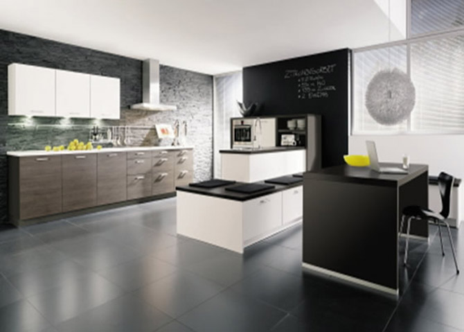 Modern Black and White Kitchen photo - 5