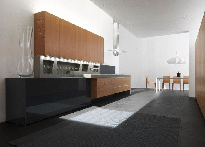 Modern Kitchen In Wooden Finish photo - 1