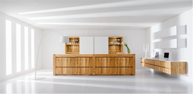 Modern Kitchen In Wooden Finish photo - 2
