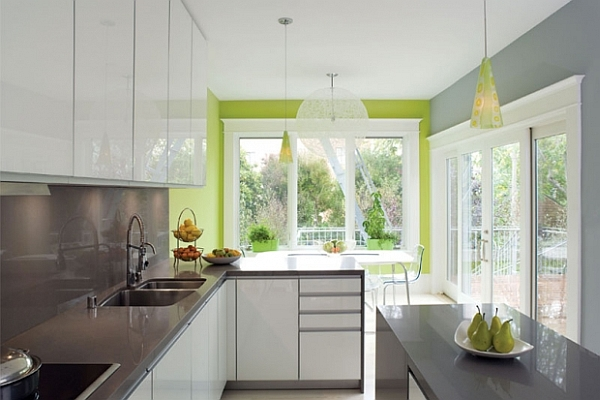 Modern Kitchen with Green Accent photo - 1