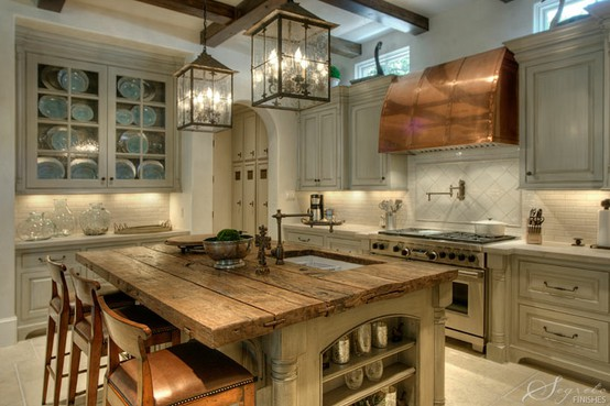 Old Fashioned Gray Kitchens photo - 2